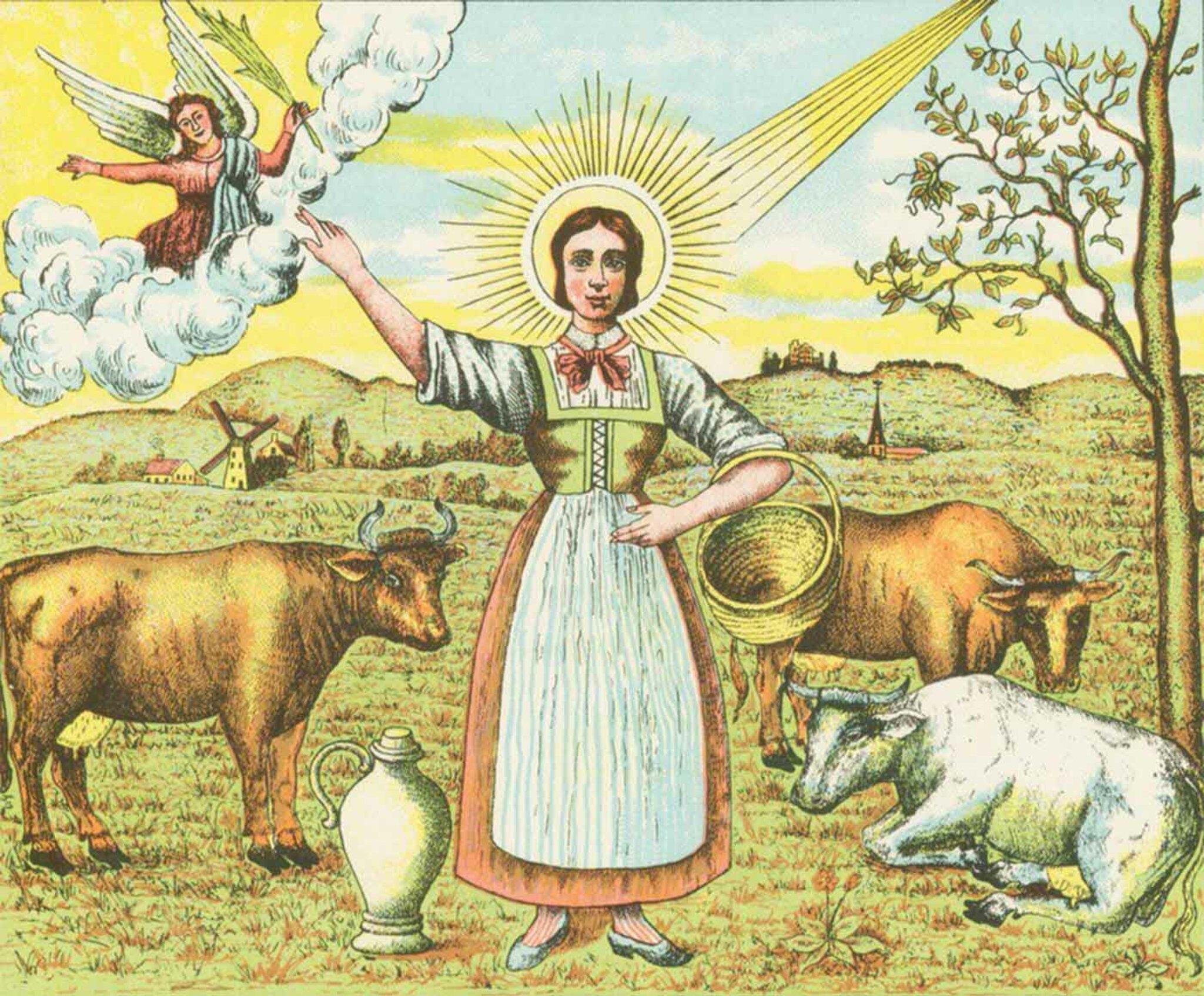 Die heilige Brigitta von Irland (Brigida of Kildare)